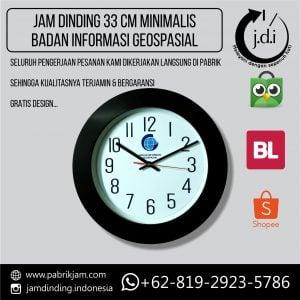 Jam Dinding 33 cm Minimalis Modern Badan Informasi Geospasial