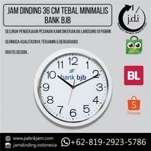 Jam Dinding Promosi 36 cm Lis Tebal Minimalis BJB