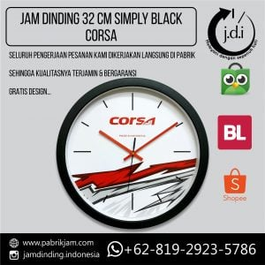 JAM DINDING PROMOSI 32 CM CORSA