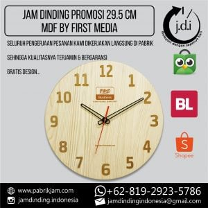 JAM DINDING PROMOSI 29.5 CM MDF MIRRORLESS