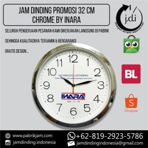 JAM DINDING PROMOSI 32 CM CHROME INARA