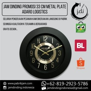 JAM DINDING PROMOSI 33 CM ADARO LOGISTICS
