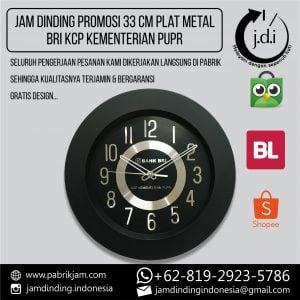JAM DINDING PROMOSI 33 CM METAL PLAT BRI KCP KEMENTERIAN PUPR